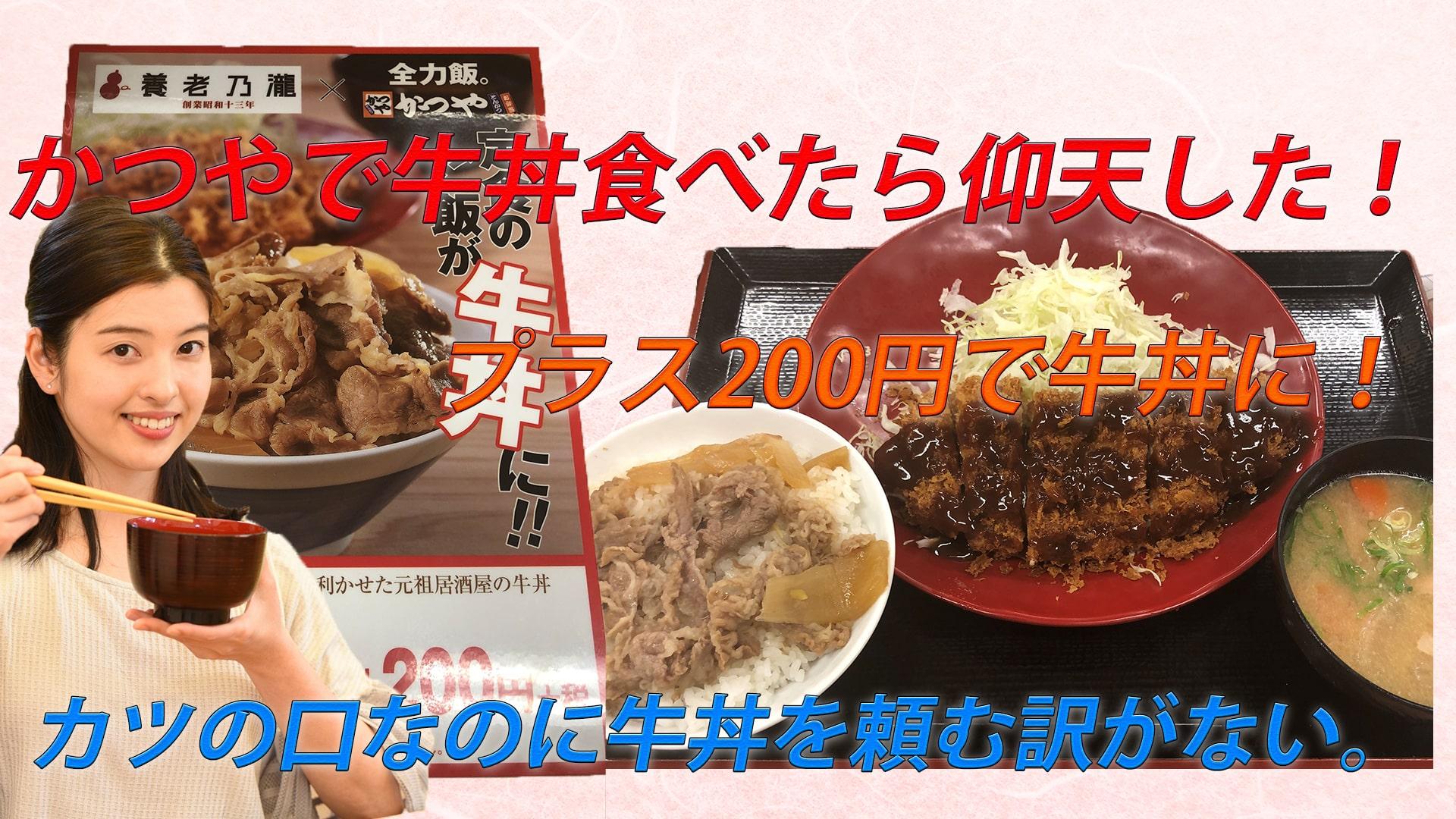 かつや、プラス200円で定食のご飯を牛丼に変えられる!仰天した件。